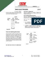 2.4.1 Zinc Grounding Electrode