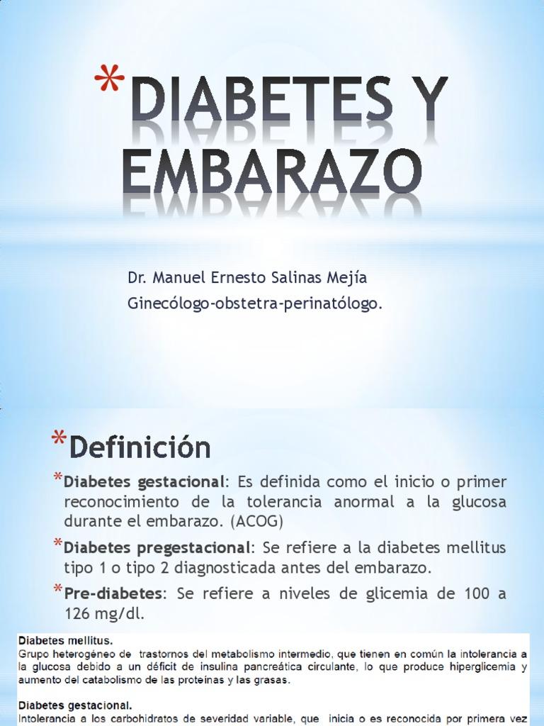 metformina vs insulina en el tratamiento de la diabetes gestacional