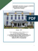 ECE Scheme-2017 III,IV Sem Syllabus