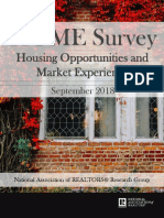 2018 Q3 Homeownership Opportunities and Market Experience (HOME) Survey