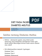 Diet Pada Pasien Diabetes Melitus