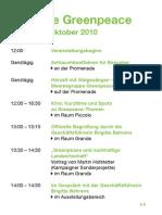 Programm 30 Jahre Greenpeace in Berlin