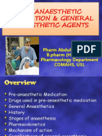 Preanaesthetic Medications and General Anaesthetics