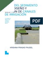 Papel Del Sedimento en El Diseño y Gestión de Canales de Riego