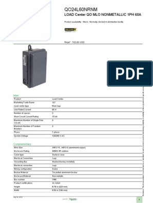 QO™ Load Centers_QO24L60NRNM | Electrical Wiring ... on load center ground bar, load center breakers, load center buckets, load center dimensions, load center interior, load center mounting, load center grounding, load center parts, load center installation, load center building, load center hardware,