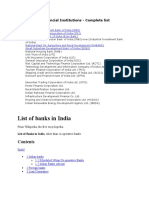 All India Financial Institutions
