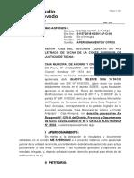 0070 Apersonamiento Tercero No Ejecuatnte - Aurelia Huancco Flores - Scotiabank