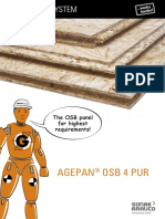 AGEPAN OSB 4 PUR Technical Data Sheet