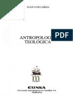 Libro Antropologia Teologica Juan Luis Lorda