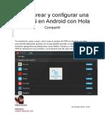 Cómo crear y configurar una red VPN en Android con Hola.docx