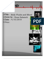 Physiology, Lecture 4, Body Fluids and Blood (Lecture notes)