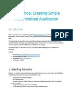 Workshop Creating Simple Decentralized App
