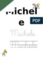 Nombre Michele Escritura Manuscrita