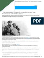 ″Discussão Sobre ′Nazismo de Esquerda′ Não Tem Base Honesta″, Diz Embaixador Alemão _ Notícias e Análises Sobre Os Fatos Mais Relevantes Do Brasil _ DW _ 20.09.2018