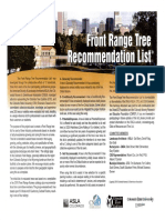 CO Frant Range Recommended Trees