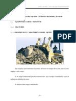 Capitulo 2 Descripción De Equipos Y Calculo De Productividad