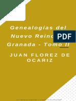 Genealogias Del Nuevo Reino de Granada - Tomo II