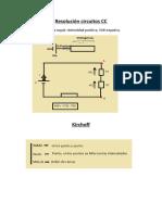Resolucion circuitos VDC