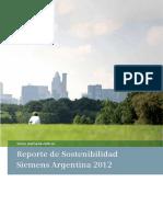 Reporte Sostenibilidad Siemens SA 2012