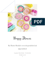 Free Pattern Crochet - Happy Flower PDF
