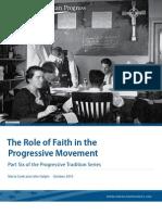 The Role of Faith in the Progressive Movement