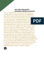 Veintidós Consejos Sobre Tipografía - Enric Jardí