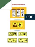 Etiquetas de Seguridad en La Máquina y Transito