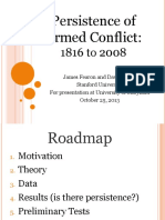 The Persistence of Armed Conflict, 1816-2008
