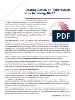 USAid Global Accelerator briefing document released at the UN high-level meeting on TB
