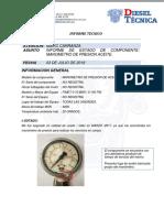 Informe Manometro de Presion Aceite Leo