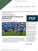 Prediksi Bola SPAL vs Sassuolo 28 September 2018