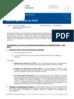 JU - Mise en Application Du RGPD