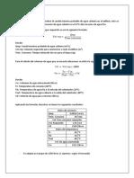 Cálculo Tanque Térmico