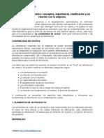 Contabilidad de Costos Conceptos Importancia Clasificación y Su Relación Con La Empresa