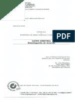Laudo Arbitral Homologación de Acuerdo MOPC y COVIPA