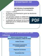 Preparación y Presentacion Del Informe