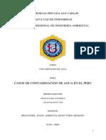 Casos Contaminacion de Agua en Peru