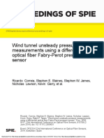 Wind tunnel unsteady pressure measurements using a differential optical fiber Fabry-Perot pressure sensor