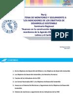 SISTEMA DE MONITOREO Y SEGUIMIENTO A LOS INDICADORES DE LOS OBJETIVOS DE DESARROLLO SOSTENIBLE