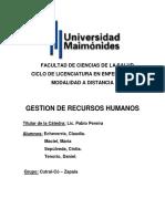 TRABAJO N°2 GESTION DE RECURSOS HUMANOS
