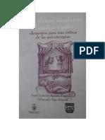 Aguirre E, J. y Vega S, E. Del Enfermo Imaginario Al Médico a Palos. Elementos Para Una Crítica de Las Psicoterapias