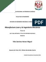 Tesis Manufactura y Lean Manufacturing