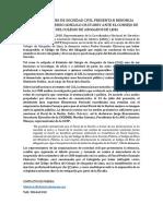 Nota de Prensa Denuncia ante CAL