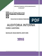 Auditoría Interna - Ibeth Rojas Benites