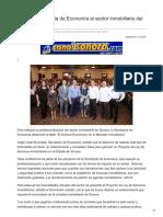 14-09-2018- Impulsa Secretaría de Economía Al Sector Inmobiliario Del Estado - Canal Sonora