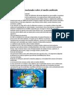 Convenios Internacionales Sobre El Medio Ambiente