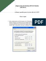 Proceso de Configuración Del Modem RYGE Modelo ART18CX