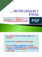 ASPECTOS LEGALES Y ÉTICOS