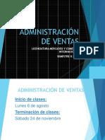 INICIO DE CLASES Y PRESENTACIÓN