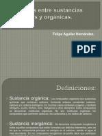 Diferencias Entre Sustancias Inorgánicas y Orgánicas